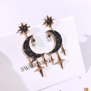 SWAROVSKI SYMBOL moon charm earrings